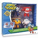 Super Wings Juego de 4 Piezas – Aviones Figuras niños – Robots transformables del Dibujo Animado Juguete Infantil a Partir de 3 años – 12 cm (Auldey EU730206)
