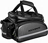 ROCKBROS Bike Rack Bag Trunk Bag Waterproof Carbon Leather Bicycle Rear Seat Cargo Bag...