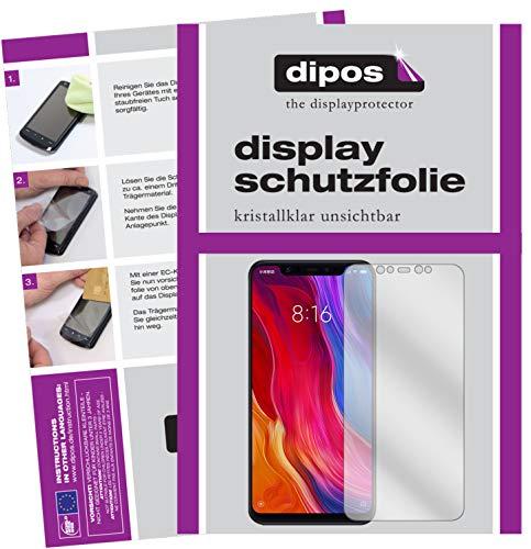 dipos I 6X Schutzfolie klar kompatibel mit Xiaomi Mi 8 Folie Bildschirmschutzfolie