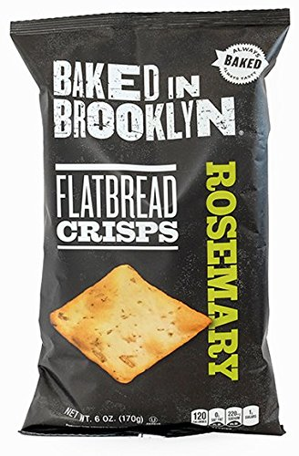 Baked In Brooklyn Flatbread Crisps Rosemary 6 oz (pack of 6)