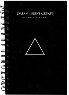 The positive store, Black Dream Believe Create Daily Planner for Time Management Undated Law of Attraction Gratitude Journ...