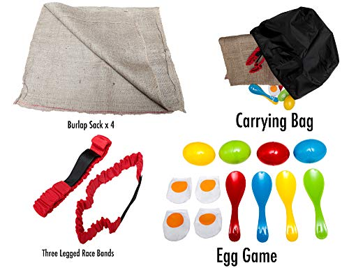 No Weird Burlap Odors Birthday Party Games Party Unlimited Durable Potato Sack Race Bags 8 PACK