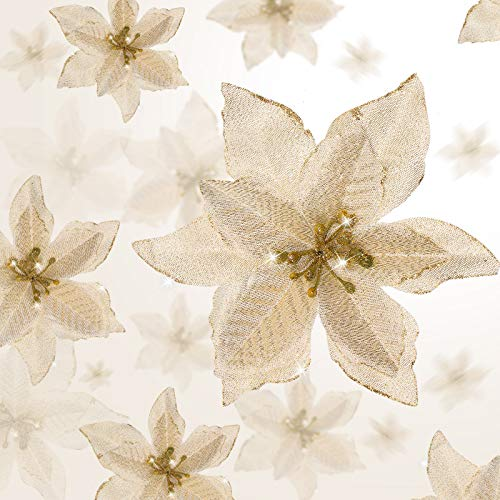 Flores Para Navidad Doradas flores para navidad  Marca WILLBOND