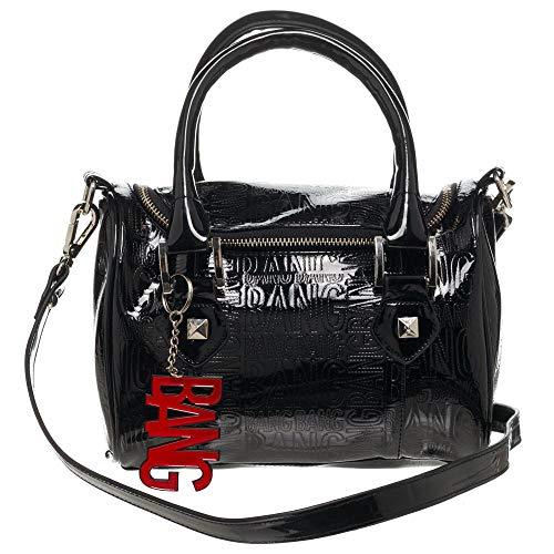 Womens Black Harley Quinn Comic Book Villain Barrel Handbag