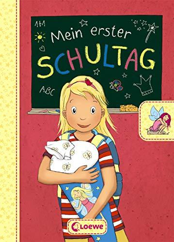 Mein erster Schultag - Feen: Eintragbuch zur Einschulung für Mädchen - Erinnerungsbuch zum Schulstart - Geschenke für die Schultüte (Eintragbücher)