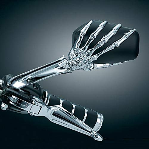Espejos retrovisores de esqueleto de aleaci/ón de aluminio para Suzuki Intruder Volusia Boulevard//Honda Shadow 750 1100 VTX VS//Yamaha V-Star