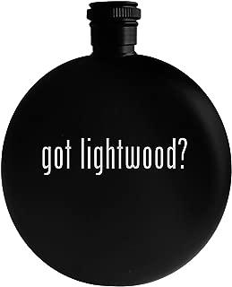 got lightwood? - 5oz Round Alcohol Drinking Flask, Black