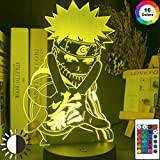 Anime japonés Naruto figura mejor luz de noche 3D LED...