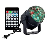 Ocean Water Wave Disco Light,AVEKI 15 Colors Sound Activated Party and DJ Lights Disco Crystal Ball Lighting with Remote for Christmas Home Room Dance Birthday Parties DJ Bar Club Pub (Water Wave)
