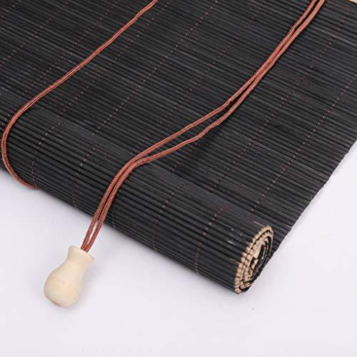 AMZH 80 * 160cm Schatten Bambusrollo Einfach Gute Zähigkeit Langlebig Vorhang Heben Feuchtigkeitsbeständig Aufrollbarer Haushaltsvorhang Vintage-Dekoration Bambus-Rollo