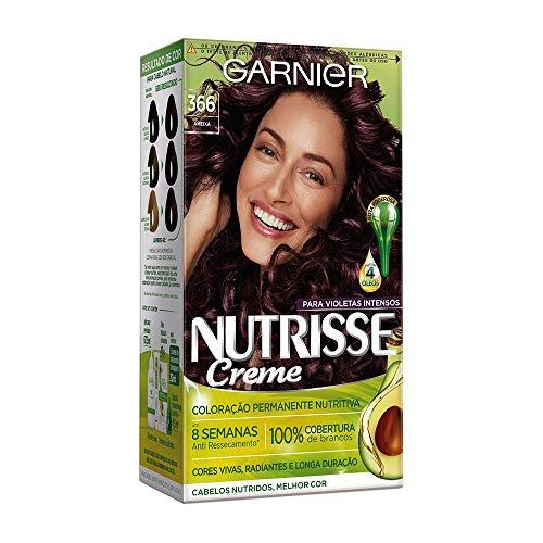 Coloração Nutrisse Creme 366 Acaju, Purpura, Garnier