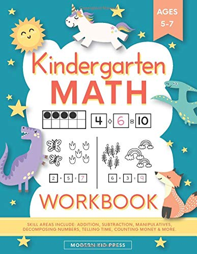 Compare Textbook Prices for Kindergarten Math Workbook: Kindergarten and 1st Grade Workbook Age 5-7 | Homeschool Kindergarteners | Addition and Subtraction Activities + Worksheets Homeschooling Activity Books  ISBN 9781948209939 by Press, Modern Kid