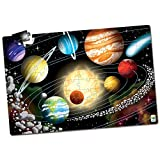 The Learning Journey Puzzle Doubles Glow in the Dark - Space - 100 Piece Glow in the Dark Puzzle, Space Puzzles For Kids Ages 4-8, Solar System Puzzle For Kids, Award Winning Educational Toys
