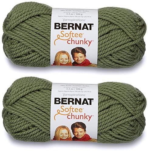 2-Pack - Bernat Softee Chunky Yarn, Forest, Single Ball