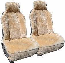 Genuine Sheepskin Car Seat Covers - Universal Seat Covers - Tan - 1 Pair (2 Seat Covers)