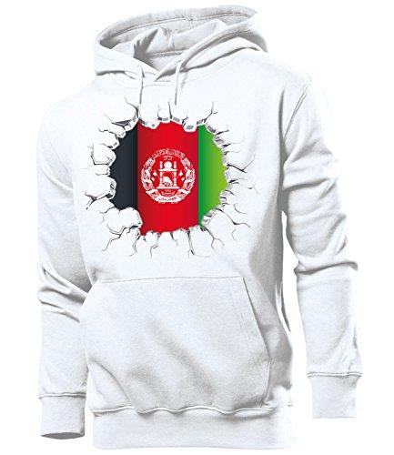 Golebros Fussball Fanhoodie Afghanistan 5659 Männer Herren Hoodie Pulli Kapuzen Pullover Fanartikel Trikot Look Geschenke Geschenk Flagge-n zubehör Fahne afghanische afgane-n wm fußball Flag