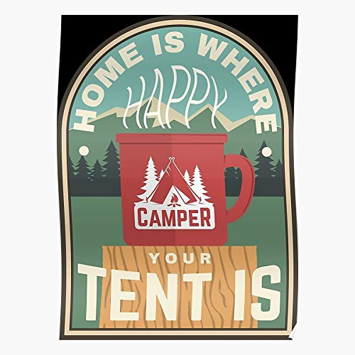 Limeswood Family Camper National Tent Park Camping For Therapy Festival Lovers Impressive posters for room decoration printed with the latest modern technology on semi-glossy paper background