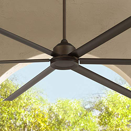 "96"" Casa Bravo Modern Contemporary Industrial Large Outdoor Ceiling Fan with Remote Control Oil Rubbed Bronze Damp Rated for Patio Exterior Roof House Porch Gazebo Garage Barn - Casa Vieja"