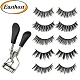 Easthost Eyelash Curler And False Eyelashes Vega for Women 3D Fake EyelashesSet of