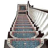LBL Tappeti per Scale Autoadesivo Pedate Mats Antiscivolo Passo di Protezione Tappeto di Copertura Stair Carpet Ispessimento delle Famiglie al Coperto tappeti per Scale coprigradini