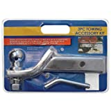 2' Chrome Trailer Towing Hitch with Ball and Pin