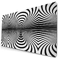 Cliff Effiea マウスパッドAbstract Black And White Spiral 大型マウスパッド ゲーミング 防水One Size かわいいアニメ 水洗い 光学式マウス 適用適度な表面摩擦 疲労軽減 超滑らかで狙った敵を素早くターゲットします 滑り止め 耐久性が良い