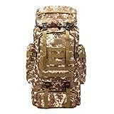 Camouflage Extérieur Escalade 60L Sac à Dos Rawdah Paquet Camping tactique militaire extérieur Randonnée Trekking sac à dos (B)