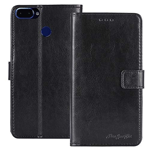 TienJueShi Black Book Stand Retro Business Flip Leather Protector Phone Case For ROKiT IO Pro 3D 5.9 inch Cover Etui Wallet