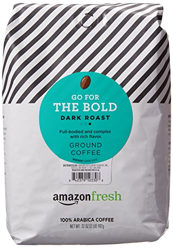 AmazonFresh Go For The Bold Ground Coffee, Dark Roast, 32 Ounce
