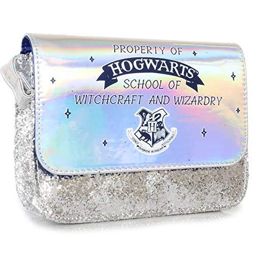 Harry Potter Bolso | Bandolera De Hombro Para Niñas Y Adolescentes | Bolsos De Plata Para Niños Con Purpurina Y Diseño Holográfico | Bolso Pequeño Para Ir De Compras | Salir De Un Día O De Viaje