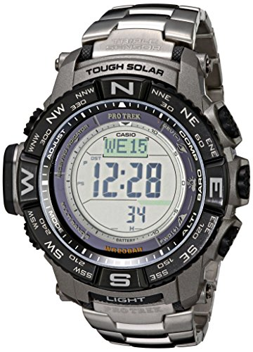Casio Men's Pro Trek PRW-3500T-7CR Tough Solar Triple Sensor Digital Sport Watch