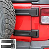 RT-TCZ Tailgate Hinge Cover Spare Tire Rear Original Style Door Hinge Liftgate Trim 2007-2017 for Jeep Wrangler JK & Unlimited (Original Black,2-Pack)