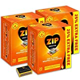 3 X Packs of 20 Zip Fast & Clean Wrapped Firelighters for Open Fires, BBQs, Stoves, Chimineas & Tigerbox Safety Matches