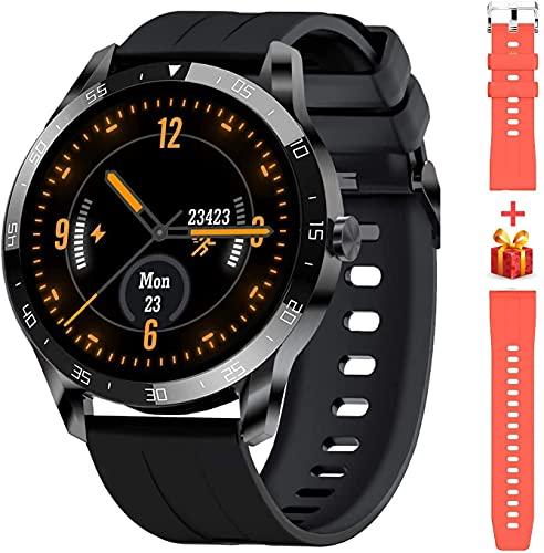 Blackview X1 Montre Connectée Homme, Smartwatch Bluetooth 5.0 Sport Etanche 5ATM Bracelet Connecté Fitness avec Fréquence Cardiaque Podomètre Contrôle de la Musique pour iOS et Android-Noir