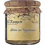 Tarro de Ventresca de Atún con Tagarninas 250 gramos   Conservas de pescado El Ronqueo   Conserva gourmet elaborada con aceite de girasol en Barbate (España)