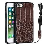 Funda para iPhone 7/iPhone 8, diseño de cocodrilo, color marrón