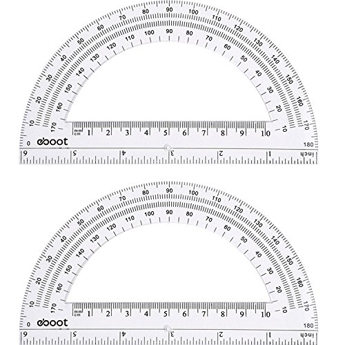 Triangle Ruler Brass Material School Education Supplies Drawing Protractor KL