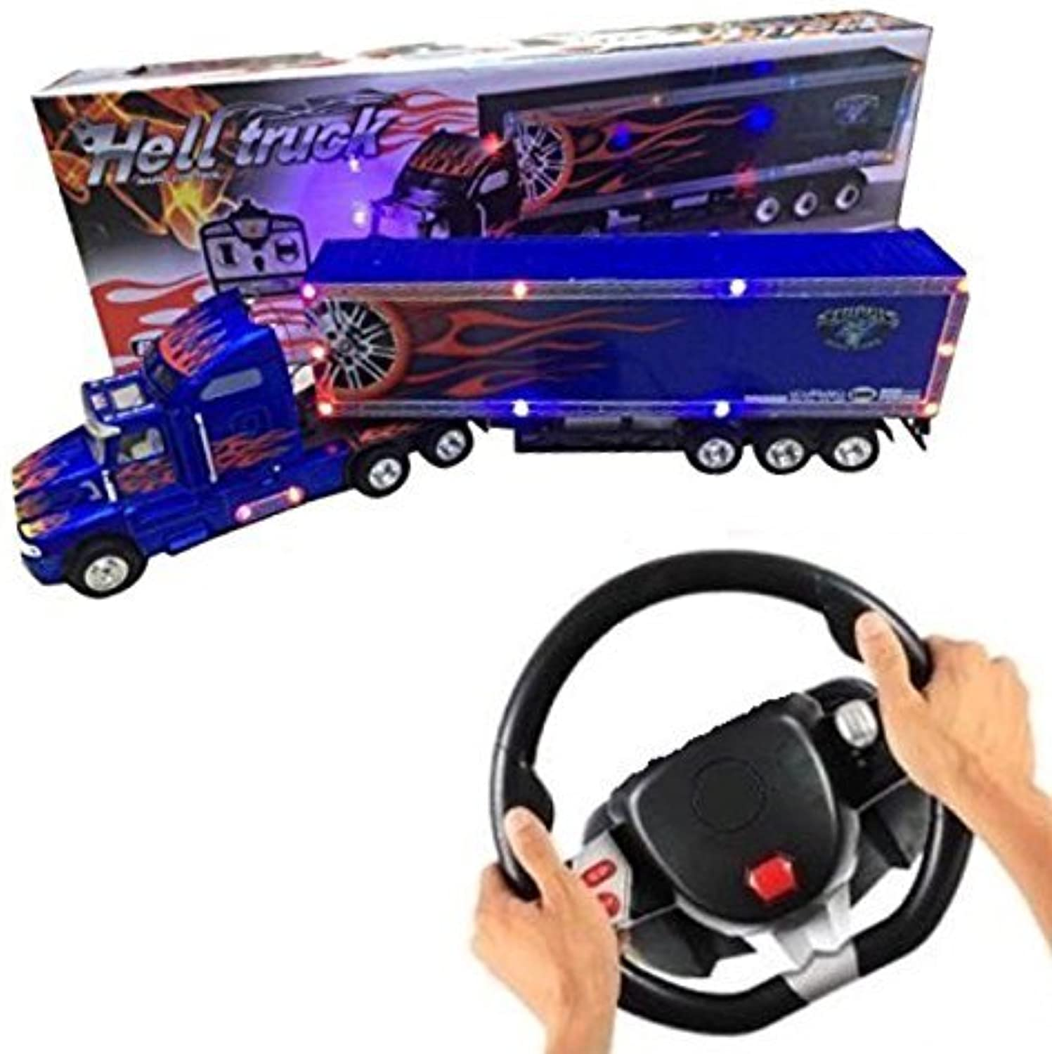 BigDaddy 2017 2.0 Super Cool Series Extra Large Super Duty Tractor Trailer With Light & Music (color may vary)