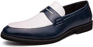 WMZQW Hommes Cuir Mocassins Chaussure Paresseuse Mode Respirant Plat Flâneurs Bateau Chaussures Décontractées Slip on 38-48