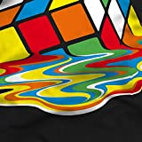 style3 Sheldon Cubo Mágico Camiseta para hombre T-Shirt, Talla:M;Color:Nero