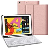 JUQITECH iPad 7th Generation Case with Keyboard for iPad 10.2 2019 7th Gen...