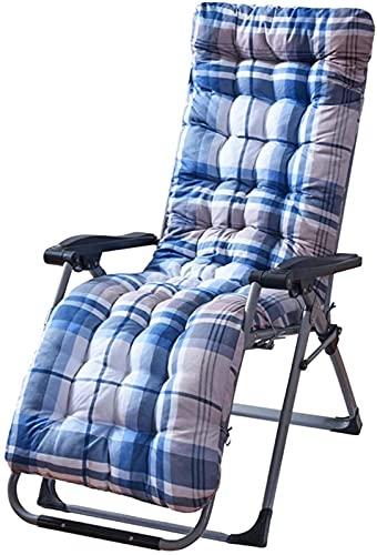 Cojín para tumbona de repuesto, antideslizante, reclinable, para silla, respaldo alto, asiento de silla, almohadillas gruesas, grandes para relajantes vacaciones, jardín al aire libre, 170 x 53 x 8 cm