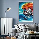 Abstract Running Horse Wall Art Poster and Prints Colorful Horse Pintura Moderna de la Lona decoración del hogar Pintura sin Marco 50x70cm