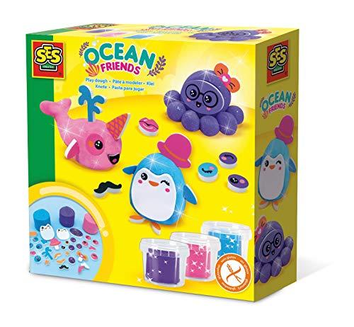 SES Creative Plastilina - Amigos del océano - Kits de manualidades para...