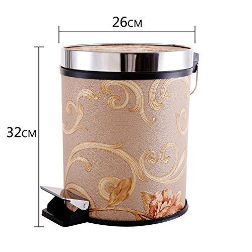 Bacs à ordures extérieurs Xiuxiutian Bureau pied en acier inoxydable hall salon et la chambre d'admettre panier 26*32cm, Style 10