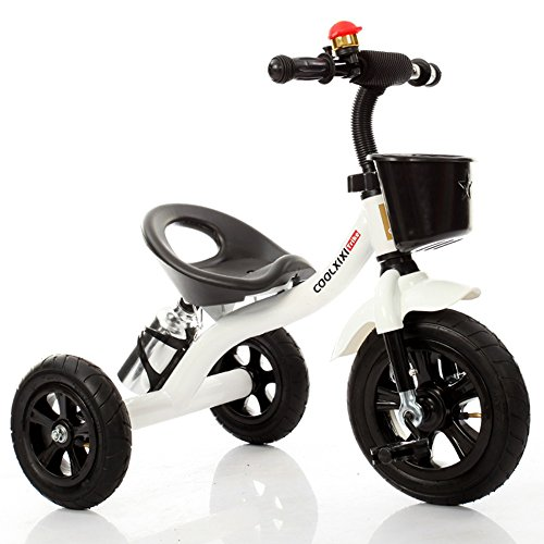 Vélo Guo Shop- Voiture à Jouet pour bébé Baby Tricycle Baby Carriage (Couleur : Blanc, Style : Inflatable Wheel)
