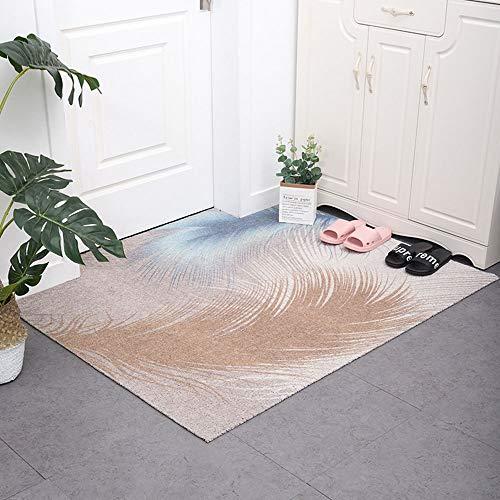 SWNN Carpet Herrliche PVC Anti-Rutsch-Boden-Matte Eintrag Mat Leicht Gewaschen Werden Kann Stretch Silk Ring Nordic Style Startseite Teppich Fußmatte Cut Indoor Outdoor (Size : 120 * 160cm)