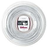 Wilson Smash 66 Cordaje de bádminton, Carrete 200 m, Unisex, Blanco, Grosor 0,68 mm