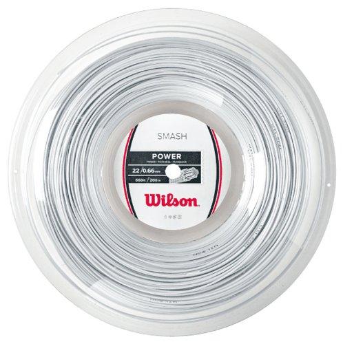 Wilson WRR9430WH Cordage de Badminton, Smash 66, 200 Mètres Rolle, Épaisseur 0,68 mm, Blanc