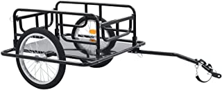 vidaXL Cykelvagn 130x73x48,5 cm stål svart